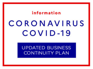 COVID-19 / Updated Business Continuity Plan